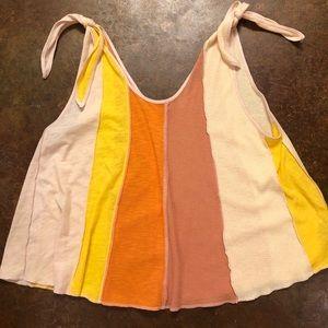 Free People Carousel Orange stripe top